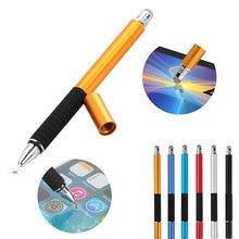 2 в 1 многофункциональная тонкая круглая ручка с тонким наконечником для сенсорного экрана, емкостный стилус для смартфона, планшета, iPad, iPhone