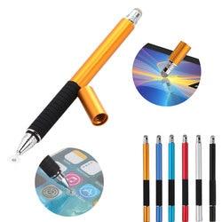 2 в 1 многофункциональная тонкая круглая ручка с тонким кончиком для сенсорного экрана емкостный стилус для смартфона планшета для iPad для ...
