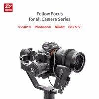 Zhi yun Zhiyun официальный кран 2 сервопривод следящий фокус для всех Canon Nikon Sony, Panasonic DSLR камера с Zhiyun Handeld Gimbal