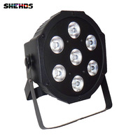 LED Flat Par 4 In 1 RGBW 7x12 W Disco Light DMX 512 8CH Stage Party