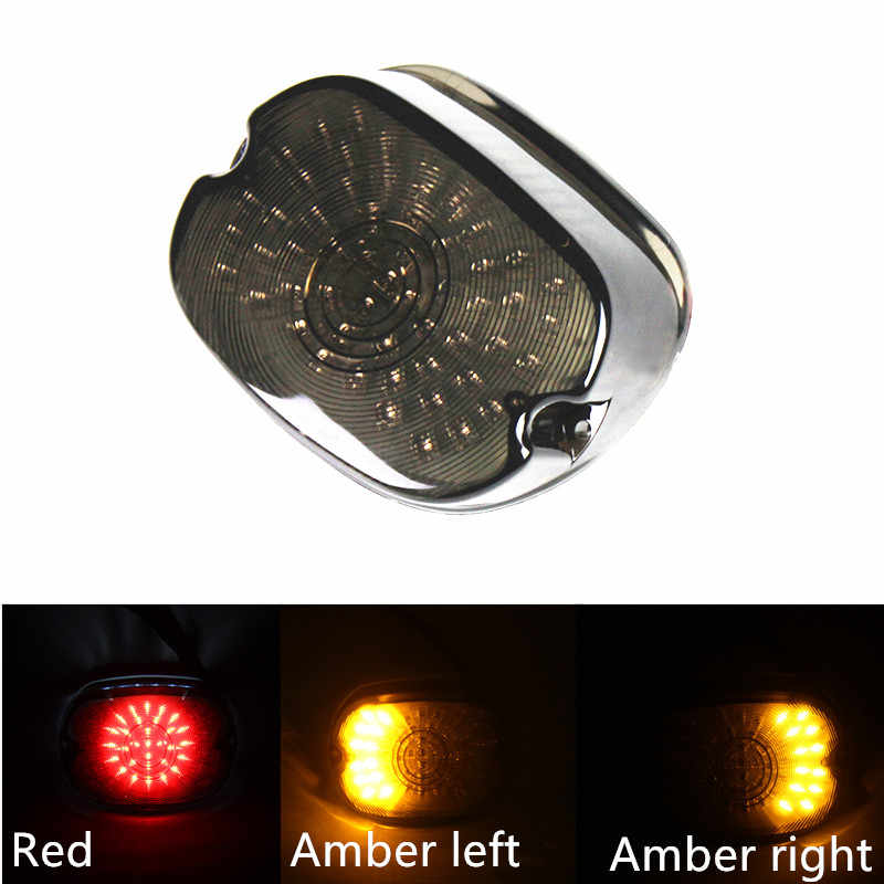 Red 12V 30W Aftermarket LED Tail Lamp Brake Light Replacement for  Motorcycle Dyna FL Eleectra Glides Road Kings