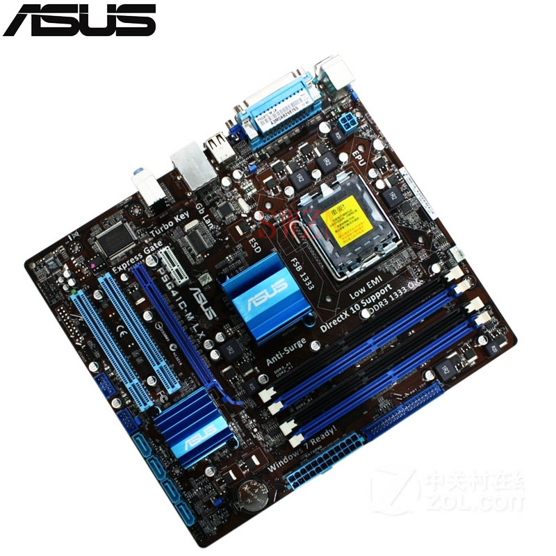 где купить  original Used Desktop motherboard For ASUS P5G41C-M LX G41 Support LGA 775 Maximum DDR2 DDR3 8GB 4*SATAII uATX  дешево