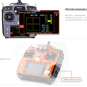 Image 3 - RadioLink AT10 II 2.4 جيجا هرتز 12CH الارسال مع R12DS استقبال PRM 01 الجهد عودة وحدة البطارية ل أجهزة الاستقبال عن بعد الجناح الثابت
