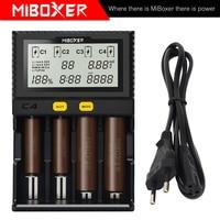 Miboxer C4 1.5A Intelligente LCD Ladegerat fur 18650 26650 18350 20700 16340 AA AAA Li Ion Ni Mh Ni Cd DC 12 V Smart Ladegerat