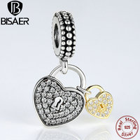 Wholesale 100 925 Sterling Silver Love Locks Charm Pendant Fit Original Pandora Bracelet DIY Jewelry Accessories