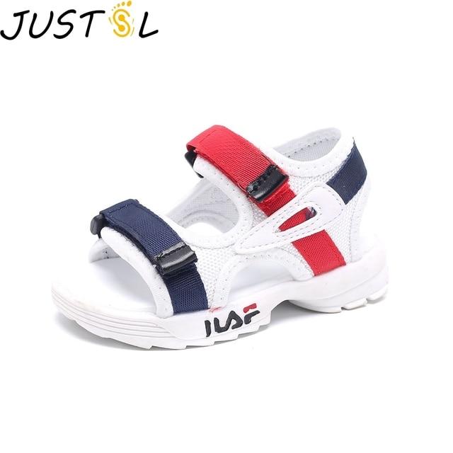 Удобные сандалии для малышей; Новинка 2018 года; летние пляжные туфли для девочек и мальчиков; Детские повседневные сандалии; модные спортивные сандалии для детей; размеры 21-25