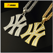 Latest Arrivals Vintage NY Pendant Statement Long Necklace Chain Fashion New Necklaces Pendants for Women 2016 Men Jewelry Gift