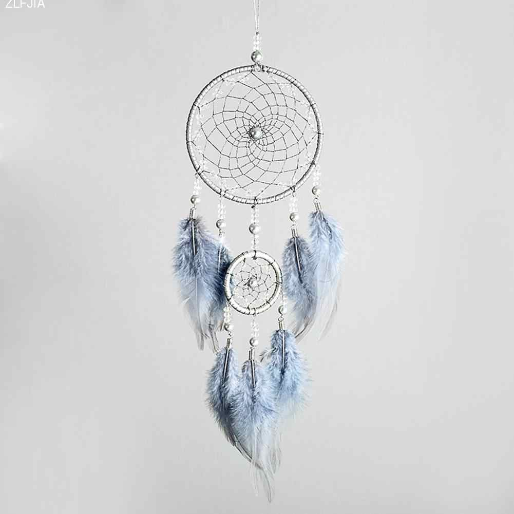 Simple Dream Catcher Looking Up At The Starlit Sky Indian Feather Dreamcatcher Hanging Accessories Nice Literary Gift