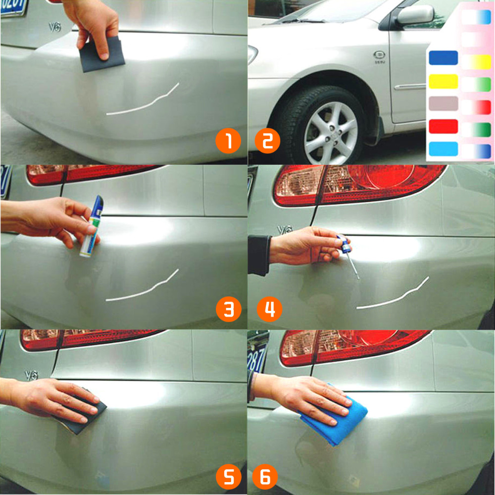 Dian Bin Fad 4 Car Touch Up Paint Pen For Audi Silver 12ml