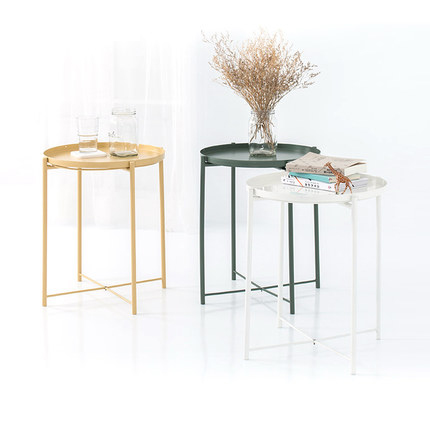 Remarkable Us 99 99 Nordic Small Coffee Table Creative Mobile Bedside Table Tray Round Table Wrought Iron Living Room Small Apartment Sofa Side A Fe In Coffee Download Free Architecture Designs Itiscsunscenecom