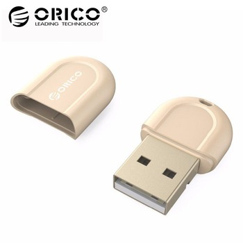 ORICO USB Bluetooth 4.0 Low Energy Micro Adapter for Windows Headset Speaker Mouse Keyboard – Golden