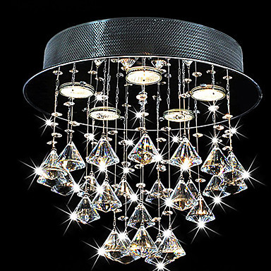 Luminarias, Modern LED Crystal Ceiling Lamp Light With 5 Lights For Living Room Home Lighting Lustres De Sala Free Shipping lustre flush mount led modern crystal ceiling lamp lights with 1 light for living room lighting free shipping