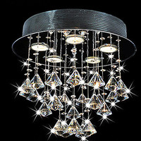 Luminarias, Modern LED Crystal Ceiling Lamp Light With 5 Lights For Living Room Home Lighting Lustres De Sala Free Shipping