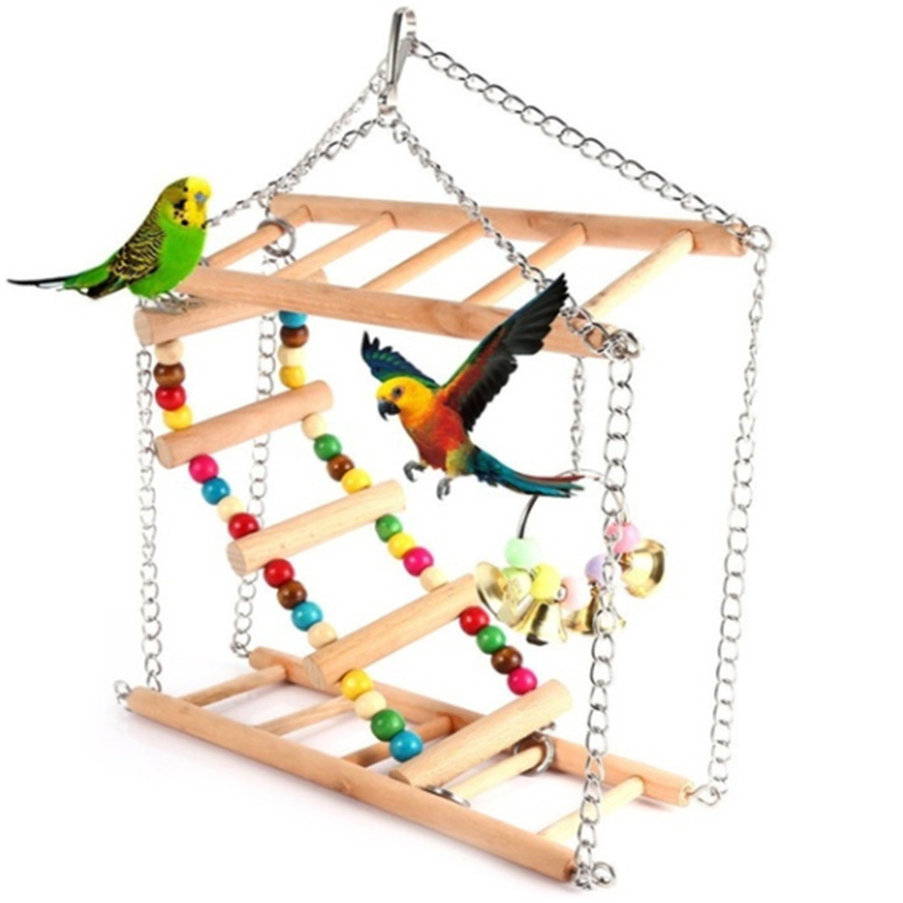 Ladder, Climb, Hammock, Wooden, Hanging, Bird