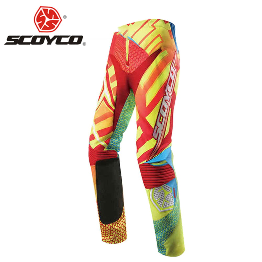 SCOYCO Motocross Pants Off-Road Racing Pants Motocross Racing Suit Breathable Motorcycle Pants Pantalon Motocross Summer scoyco mens motorcycle pants racing trousers winter summer p028