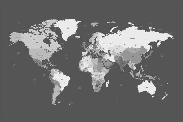 Custom canvas wall decor world map poster map of world wallpaper custom canvas wall decor world map poster map of world wallpaper black and white world map gumiabroncs Choice Image