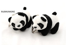 1piece, Delicate Quality 4-12CM Approx. Panda Toys , Baby Animal Stuffed Plush Panda Toys , Key chain panda dolls(China)