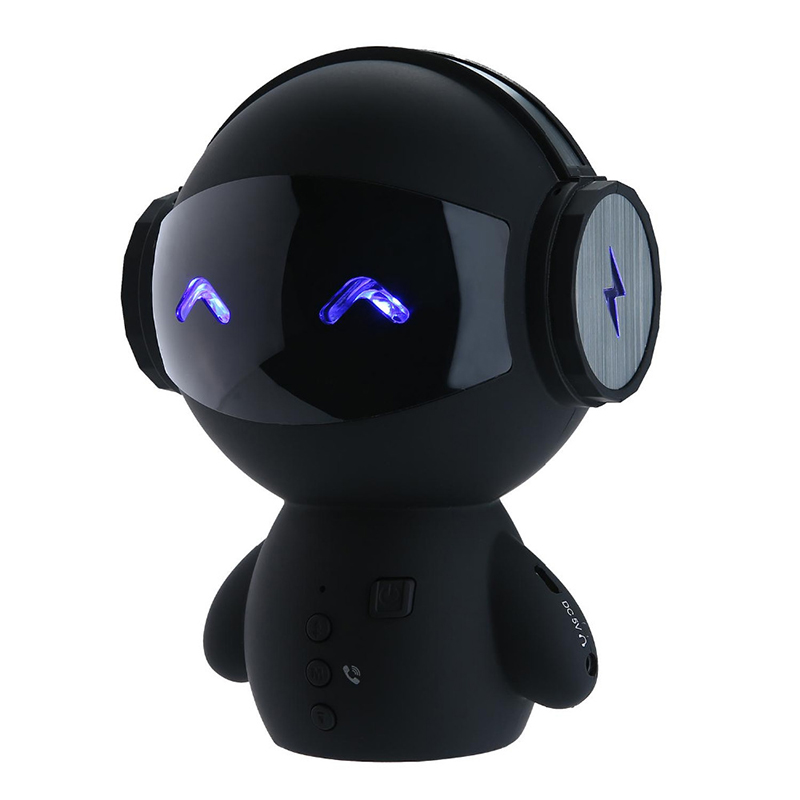 Intelligent Mini Robot Bluetooth BT Speaker Smart-robot Cute Portable BT-speaker with CSR3. Bass TF AUX And Power Bank Function