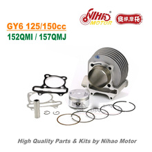 TZ-02A 150cc 180cc 58.5mm/ Racing Cylinder Assy GY6 Parts Chinese Scooter Motorcycle 152QMI 157QMJ Engine Spare Nihao Motor