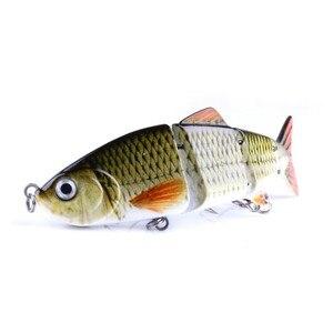Image 5 - Esche da pesca rigide 12CM 16.8G esca per occhi 3D Multi snodata esca dura a 8 segmenti Crankbait con esche da pesca con gancio 6 # ST