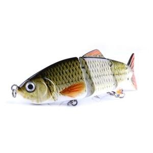 Image 5 - Hard Fishing Lures 12CM 16.8G Multi Jointed 3D Eyes Lure 8 Segment Hard Lure Crankbait With 6# hook Fishing Baits ST