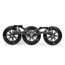 Flying Eagle ультразвуковой скоростные коньки рамка 3X125 мм 88A колеса ILQ-9 подшипники Алюминий ЧПУ 10,5 »267 мм Скорость Patine бассейна