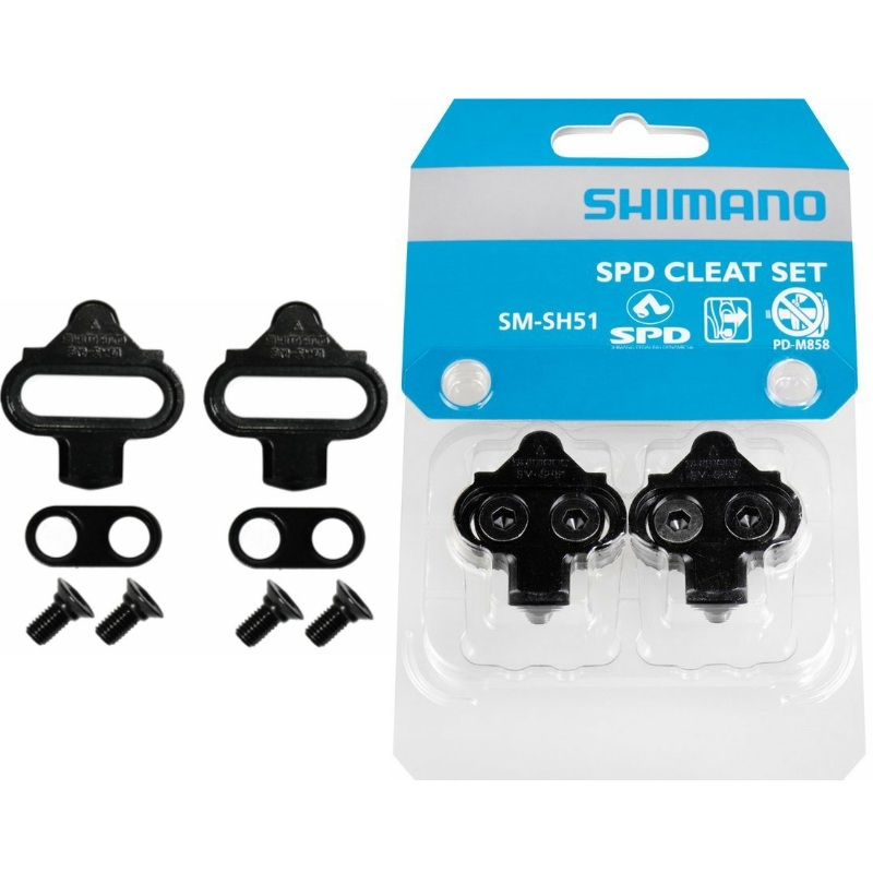 Shimano SPD SM-SH56 Multi-Directional Release Cleats w// Cleat Plate Nuts