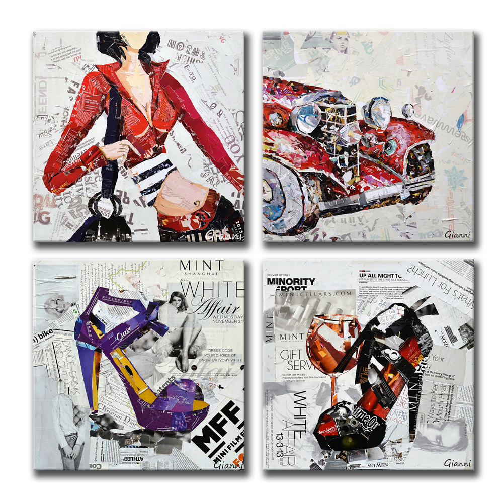 Contemporary and contracted european style decoration stickers frameless painting art canvas print shop club hotel home outfit