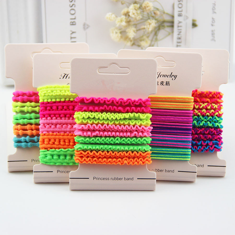 10Pcs/lot Hot New Candy Color Headband Princess Scrunchy Ropes Gum Children Elastic Hair Bands Cute Hair Accessories for Girls 2015 fashion elastic hair bands for women candy color baby girl kids headbands hair ropes headwear hair accessories 20 colors