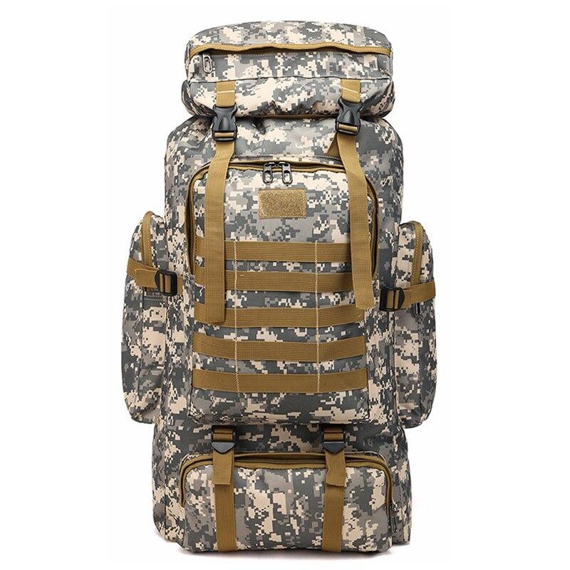 70L sac d'alpinisme en plein air sac tactique de grande capacité sac à dos militaire Camouflage Molle sac à dos chasse Camping sac à dos