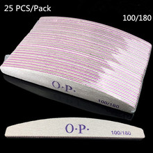 цены 25 PCS/Lot Nail Files 100/180 Professional Sanding Buffer Block Pedicure Manicure Buffing Polish Beauty Tools Double Side Files