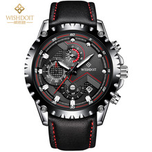 купить 2018 New Fashion Sport Quartz Clock Mens Watches Top Brand Luxury Stainless Steel &Leather Wrist Watch Male Relogio Masculino по цене 1562.5 рублей
