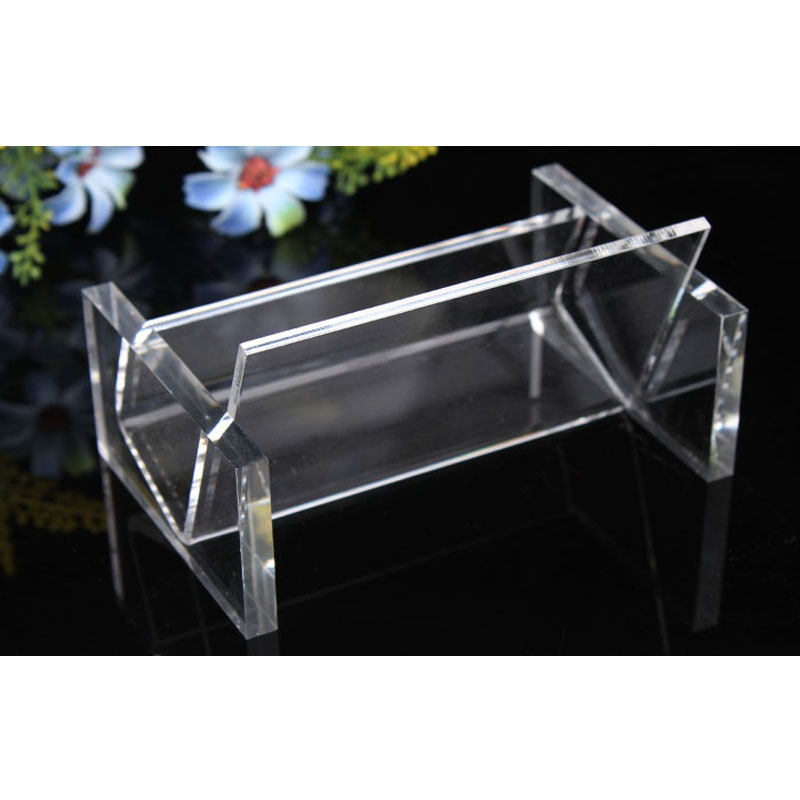 Fashion Clear Business Card Box Holder Card Case Display Jewelry Organizer Shelf Office Stationery Stand Case Free Shipping A74-in Jewelry Packaging & ...