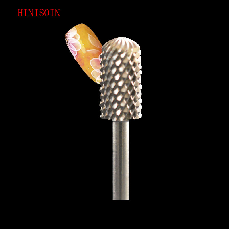 2pcs HIVISOIN Carbide Nail Drill Bit - Small Rounded Top Bit - C(60040130)-Silver