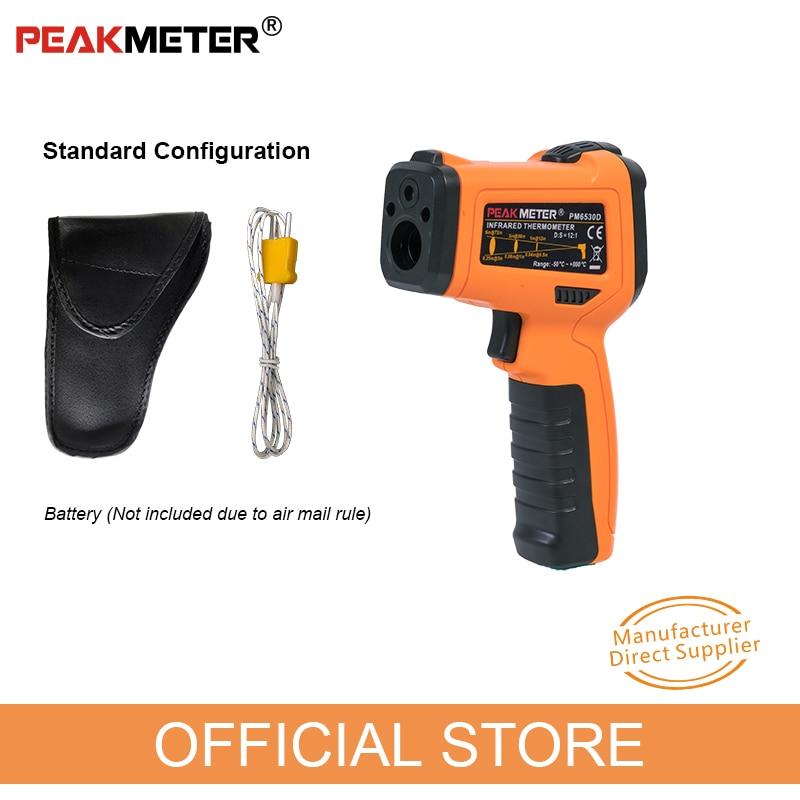 Image 3 - PM6530D digital laser infrared thermometer hygrometer K type UV  light electronic temperature sensor humidity meter pyrometerTemperature  Instruments   -