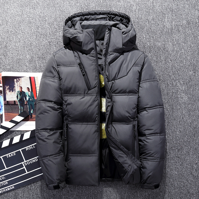 0f9358501 US $43.45 21% OFF|Hot Sale Windproof Down Jackets Men Warm Hooded Winter  Outerwear High Quality Smart Casual White Down Coats Male Padded Jacket -in  ...