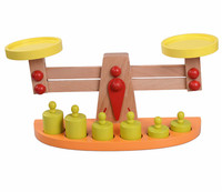 Baby Toys Educational Wooden Balance Toy Balance Game Montessori Scale Funny Toy Birthday Gift