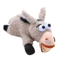 Children Hand Inductive Electric Donkey Plush Toys Creative Big Laughter Roll Donkey Doll Toy