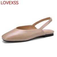 LOVEXSS Fashion Sandals Female Head 2018 New Summer Low Heeled Shoes Retro Wild British Baotou Women
