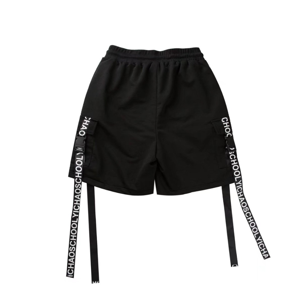 Side Ribbon Elastic Waist Drawstring Shorts 4