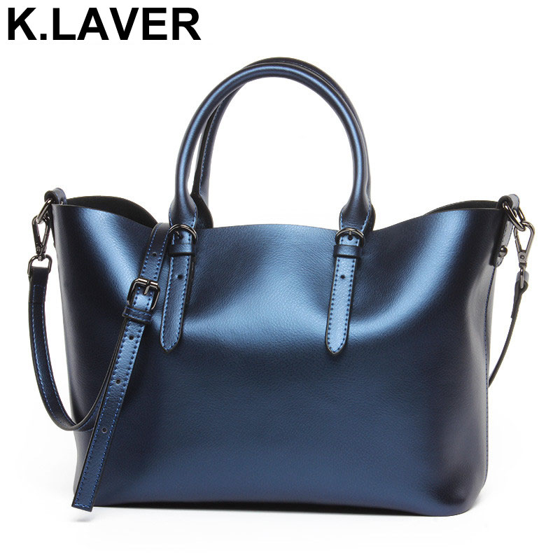 K.LAVER 100% Genuine Leather Women Shoulder Bag Brand Cowhide Ladies Large Capacity Handbags Crossbody Tote Shopping Bags Bolsos ladies bag 2017 new trend fashion handbags large capacity shopping bag genuine leather bag simple shoulder ladies bag bbh1387