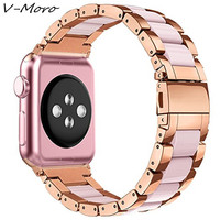 V MORO 2018 New Watch Strap For Apple Watch 3 2 1 Sport Bands Rose Gold