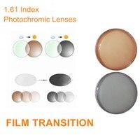 Lentes fotocromáticas graduadas con índice 1 61  lentes de transición para miopía/hipermetropía/presbicia tránsito  cristales marrones grises