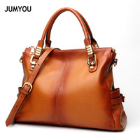 Genuine Leather Handbags Totes Bags For Women Large Fashion Casual Vintage Soft Brown Handbags For Female Real Leather Tote Bags