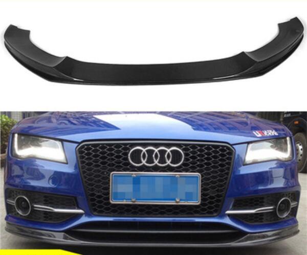 Fibre de carbone avant lèvre Splitters pare-chocs tabliers coupe volets Spoiler pour AUDI S7 Sline 7 2011 2012 2013 2014 2015