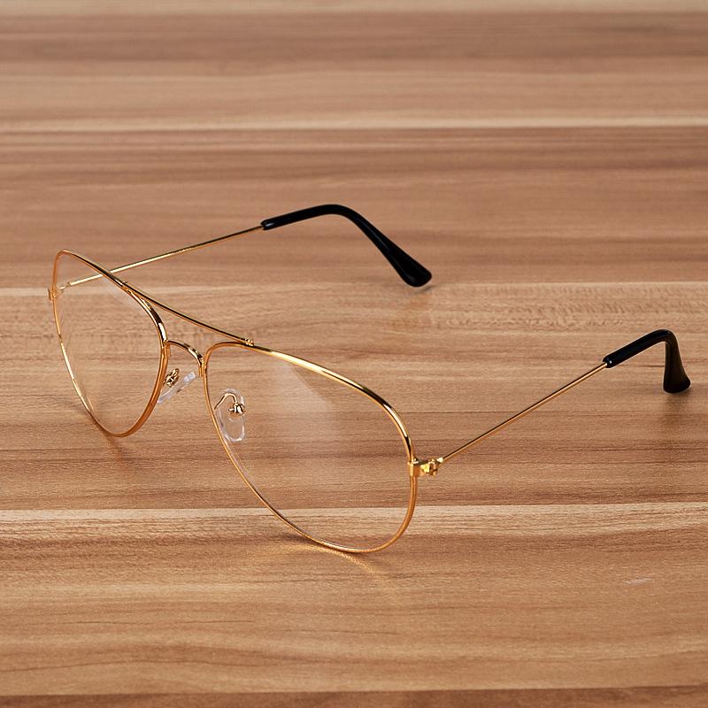Neue Gold Rahmen Klare Pilotenbrille Für Männer Übergroße Rayed ...