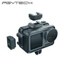 Pgytech osmo 액션 카메라 케이지 보호 케이스 dji osmo 액션 스포츠 카메라 프레임 커버 쉘 하우징 액세서리
