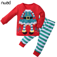 Christmas Kids Cotton Long Sleeves Clothes Little Girls Boys Clothing Sets Children Suits Pyjamas For Baby