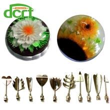 3D Gelee Blume Nagelkunstwerkzeuge 3D Gelatine Nagelkunstwerkzeuge Jello 10-piece-tool gesetzt gelee dekoration machen werkzeuge D