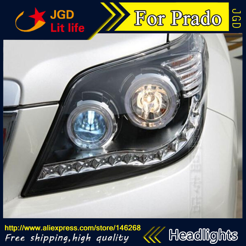 Free shipping ! Car styling LED HID Rio LED headlights Head Lamp case for Toyota Prado 2012 Bi-Xenon Lens low beam перчатки сноубордические dakine scout glove rasta